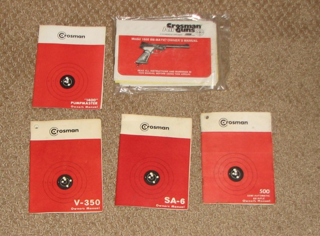 Crosman gun manuals for sale