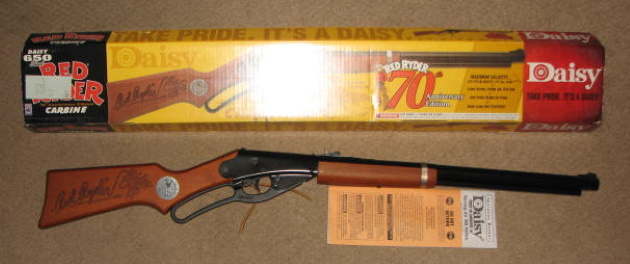Daisy 70 anniv red ryder bb gun