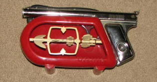 Daisy model 118 chrome pistol with red target