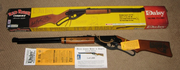 Daisy Red Ryder bb gun Daisy comes home to