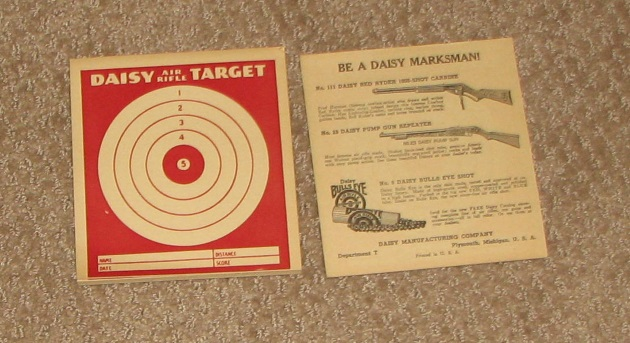 Daisy pad of paper targets
