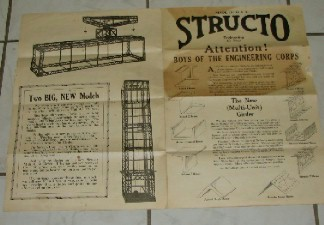 STRUCTO TOY AD LARGE 1920