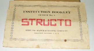 STRUCTO ERECTOR SET BOOK