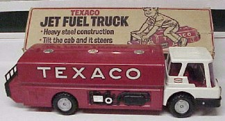 Texaco jet fuel truck in